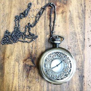 Pocket Watch Chain in Antique Bronze Gold Finish